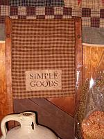 small simple goods table runner