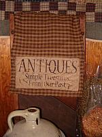 small antiques table runner