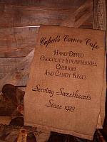 Cupid's Corner Cafe towel
