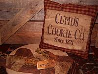 Cupid's cookie co homespun pillow