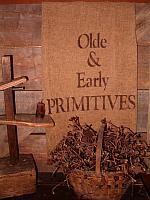 olde and early primitves towel or pillow