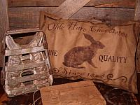 Olde Hare Chocolates pillow
