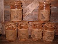 medium grungy Spring pantry jars