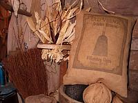 Old Village shaker brooms pillow