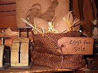 burlap eggs for sale sack
