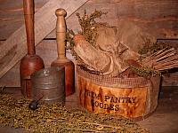 Primitive pantry goodes fabric box