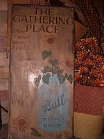 The Gathering Place Mason Jar sign