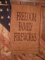 Freedom Family Fireworks towel or pillow