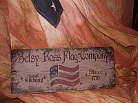 #1804 Betsy Ross Flag Co sign