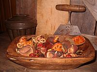 #1812 wooden bowl filled with pod mix