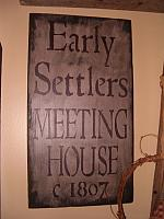 #1814 Early Settlers Meeting House sign